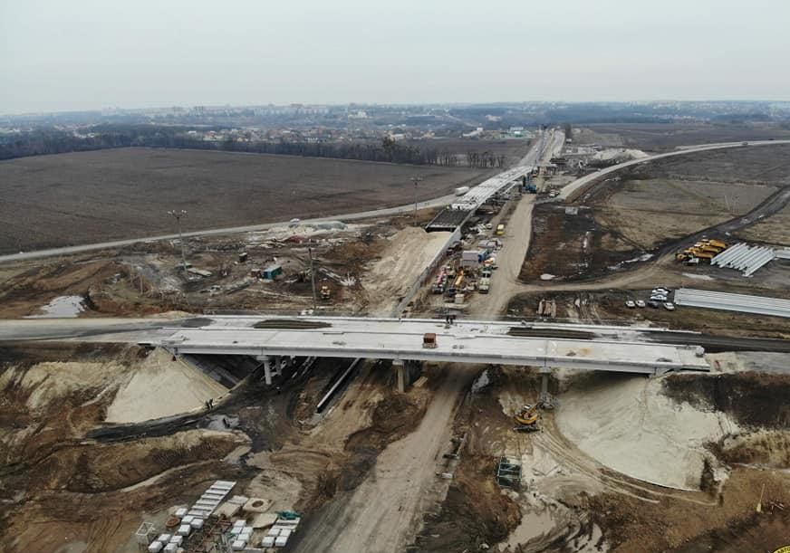 Под Полтавой продолжается строительство транспортной развязки